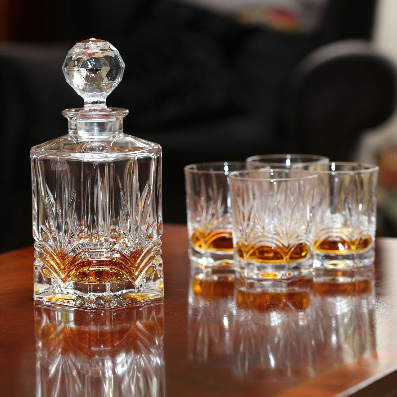 Galway Crystal Kells Decanter & Glasses Gift Set