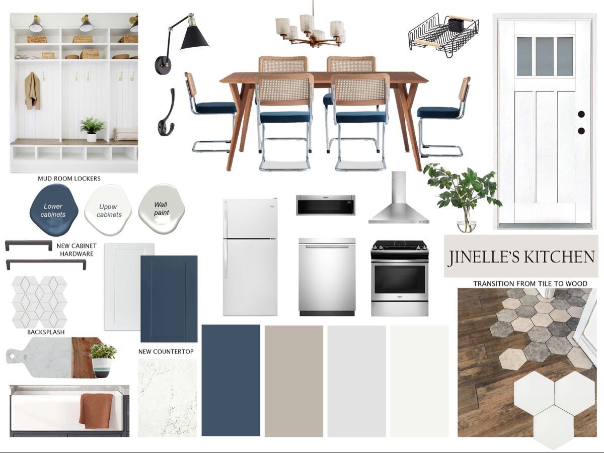 #mcm #midcenturymodern #kitchen #kitchendesign #kitchendecor #moodboard