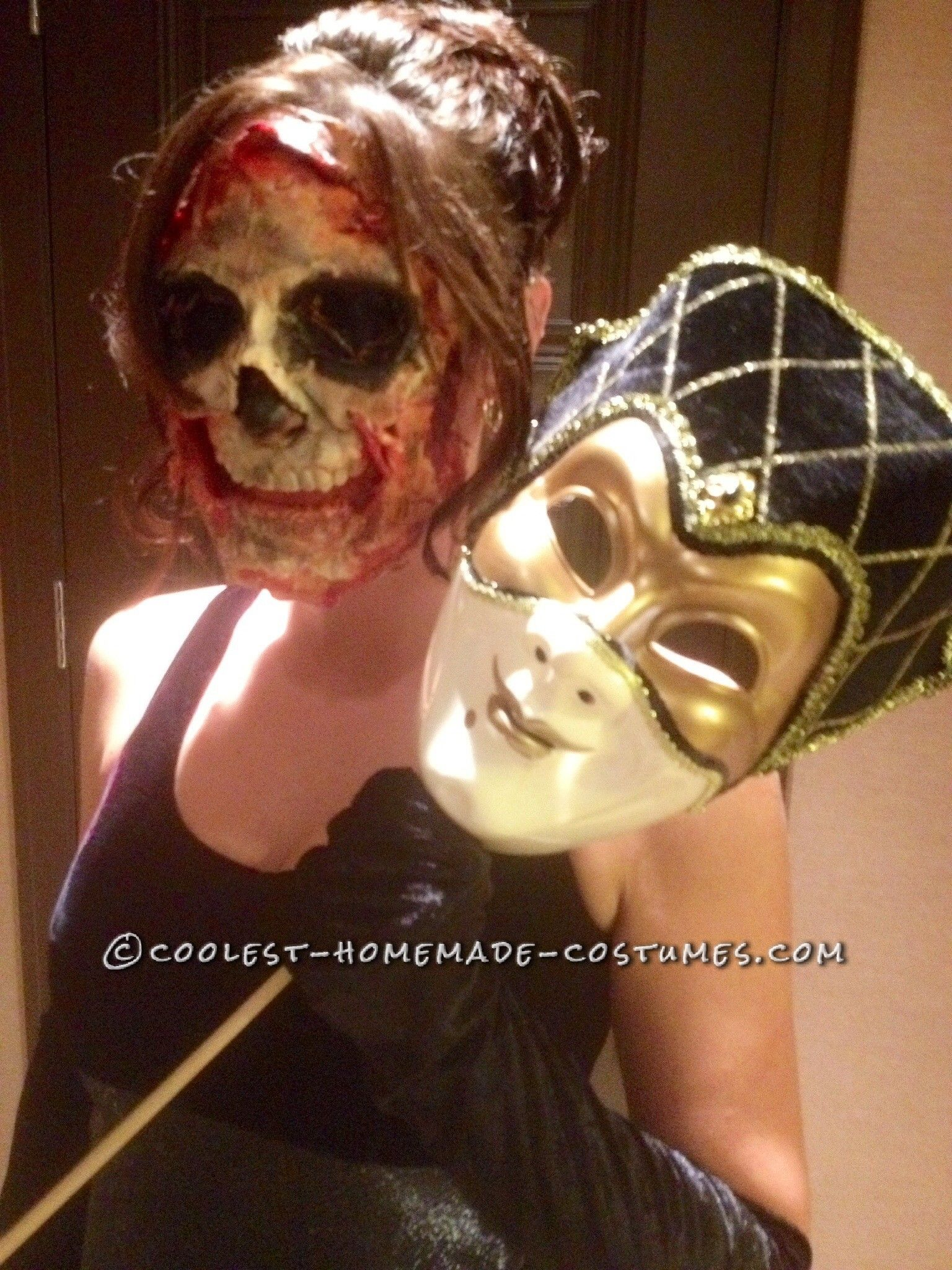 creepy super scary masquerade women's costume | coolest homemade