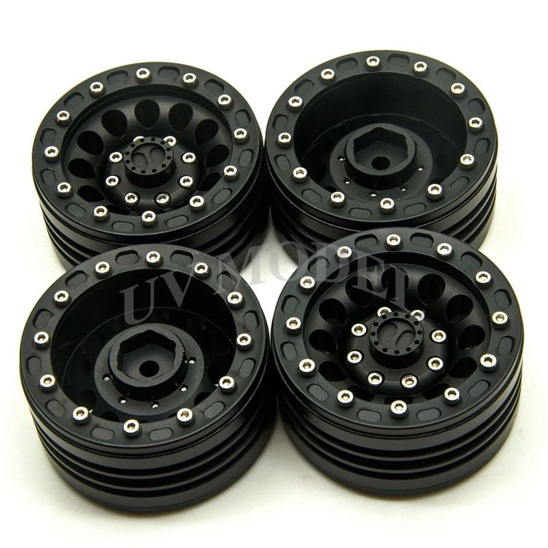 4pcs Scale 1 10 Rc Crawler Alloy Upgrade Parts Wheel Rim 1 9 Inch Beadlock For 1 10 Axial Scx10 Tamiya Cc01 Rc4wd D90 Rc Wheel Rims Rc Crawler Beadlock Wheels