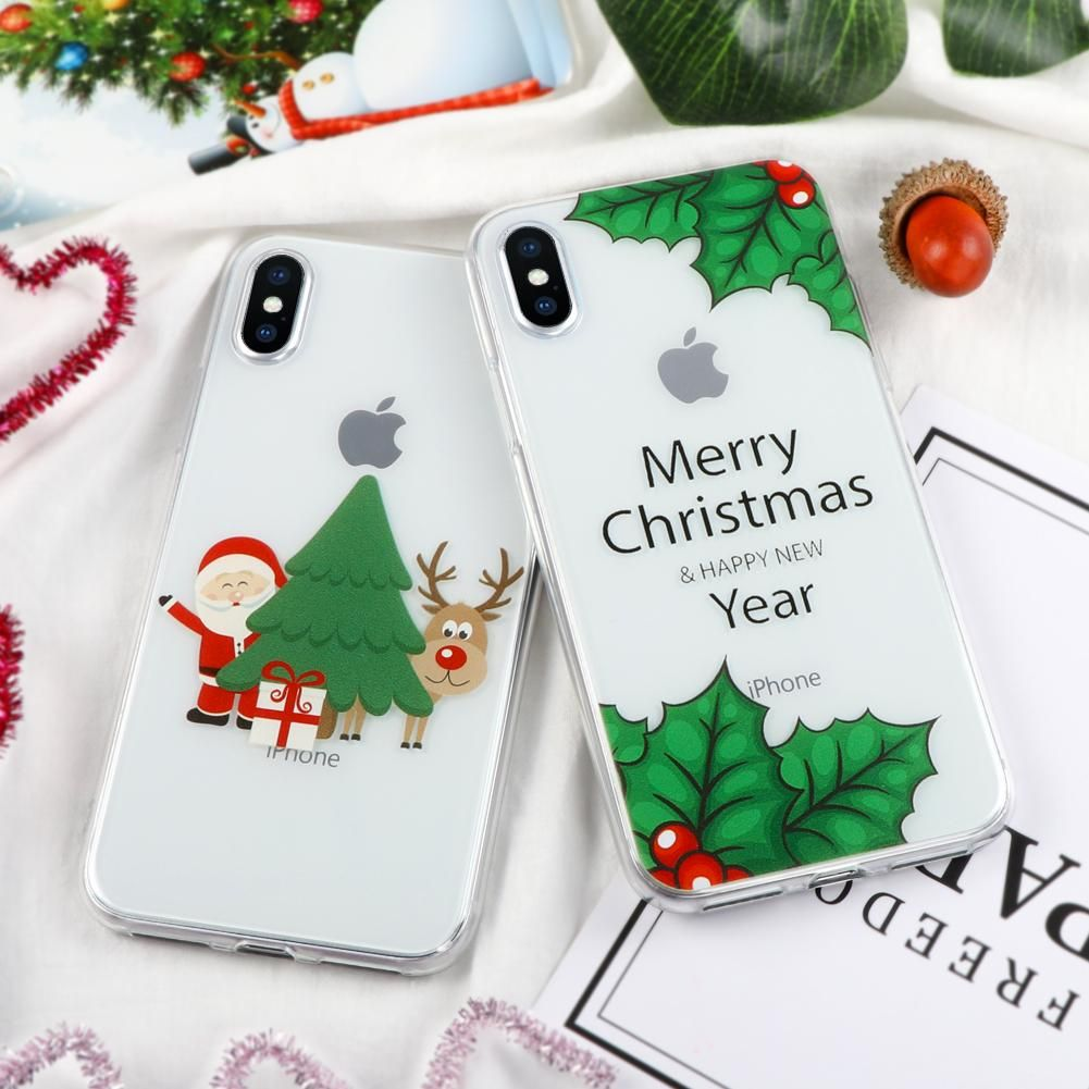 Christmas Soft TPU Case for Couqe iPhone X 7 8 4 4S 5 5S SE 5C 6 6S ...