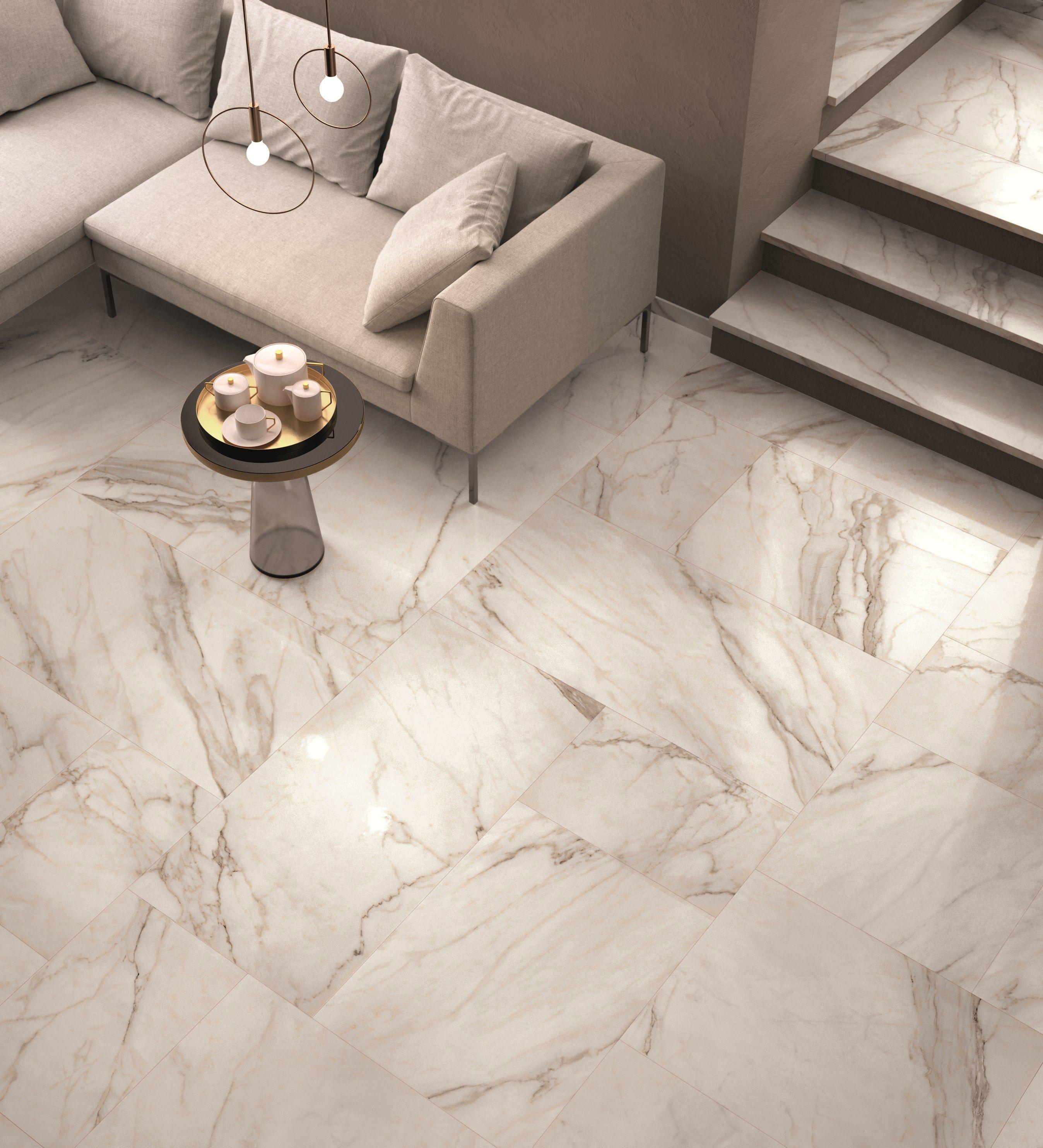 Wand und Bodenbelag mit MarmorEffekt SUPREME by Flaviker Contemporary Eco Ceramics  Marmor