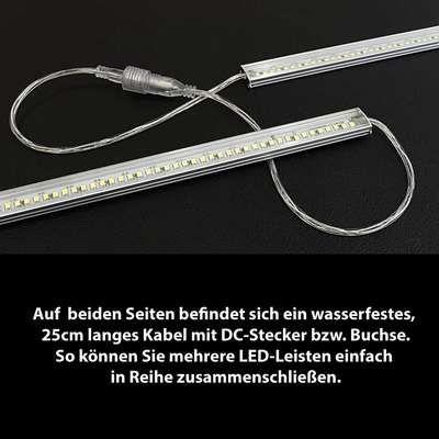 100cm LED-Lichtleiste wasserdicht 12V IP65 192x SMD LEDs - weiß ...
