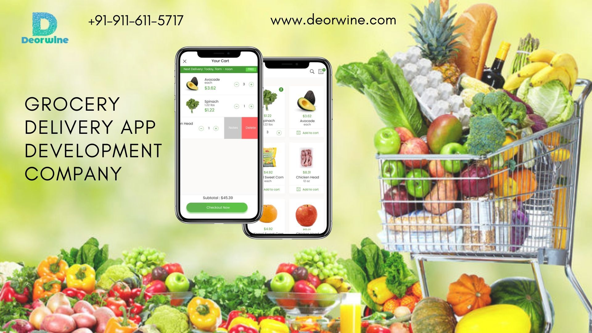 Deorwine is the best Grocery delivery app development
