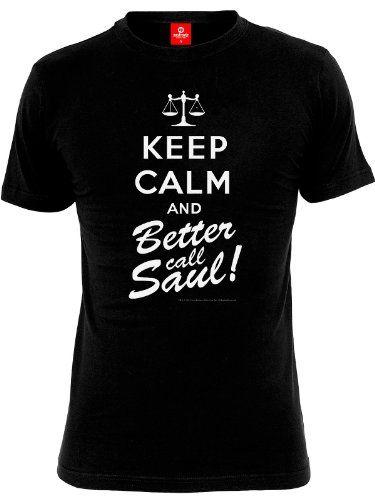 Breaking Bad Keep Calm and Better Call Saul Camiseta Black negro XX-Large #camiseta #starwars #marvel #gift