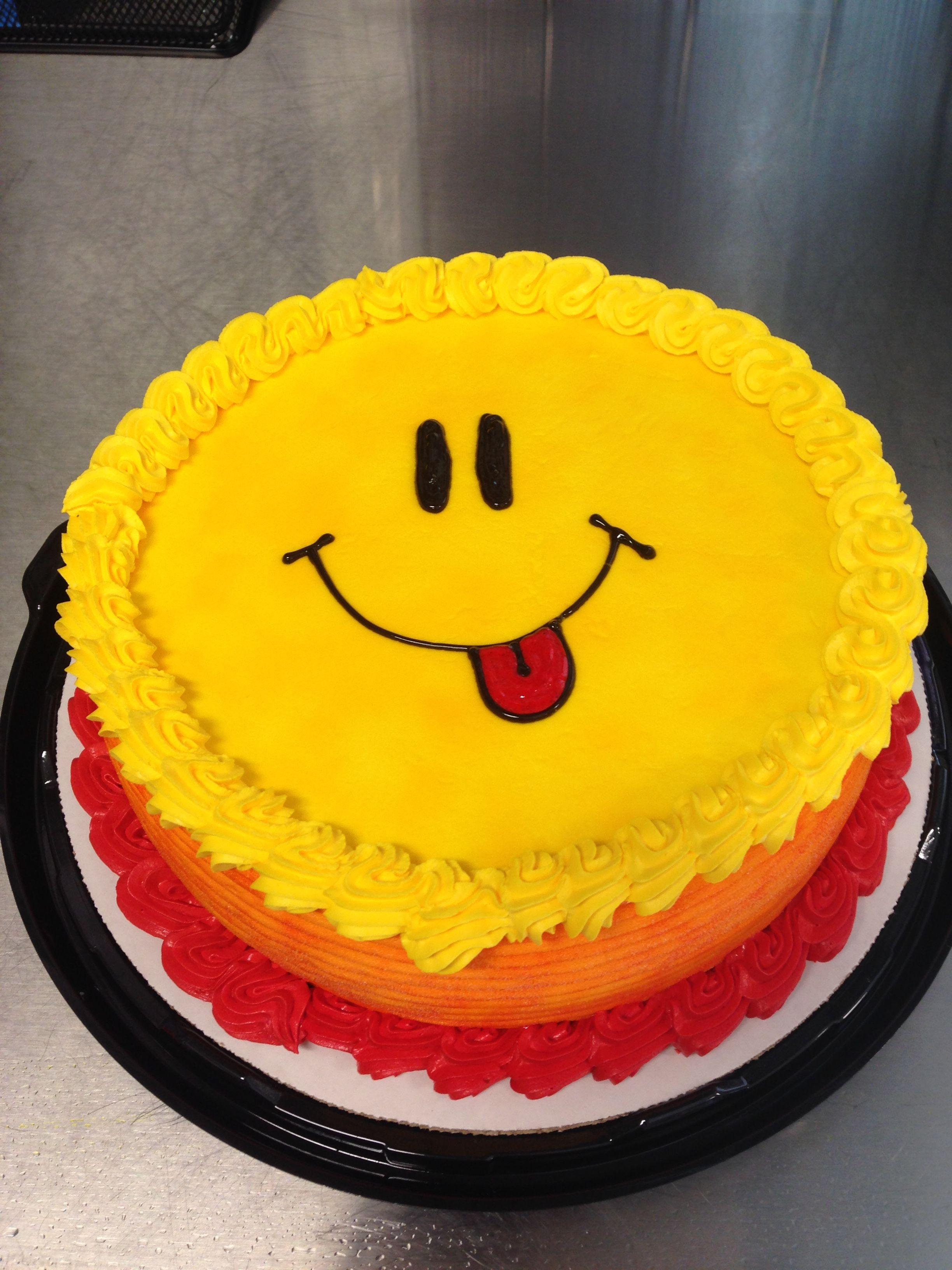 Dq ice cream cake smiley face my cakes pinterest