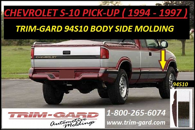 1994 1995 1996 1997 Chevrolet S10 Pick Up Body Side Molding Trim Gard Manufacturers The Chevy S10 Pick Up Body Si Moldings And Trim Chevy S10 Chevrolet S 10