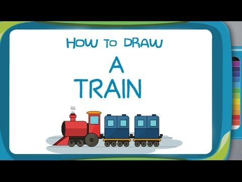 How To Draw A Train Learn How To Draw A Train In A Simple And Interactive Way More Such Drawi Drawing For Kids Drawing Lessons For Kids Fun Arts And Crafts
