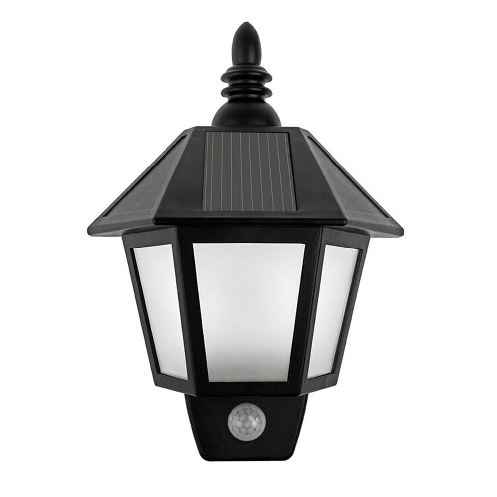 Led solar light motion sensor outdoor waterproof activated hexagonal