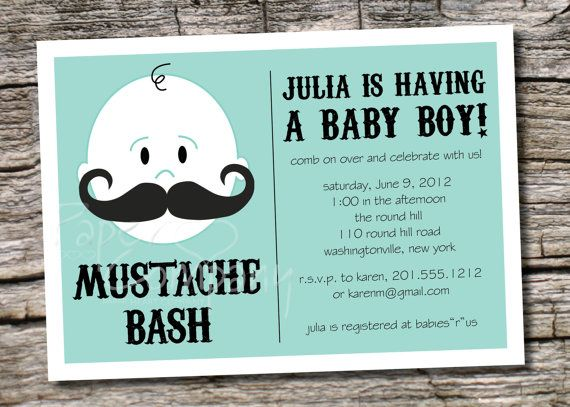 Mustache bash boy baby shower invitation printable digital file printable mustache baby shower invitations mustache bash boy baby shower invitation printable diy customizable filmwisefo Image collections