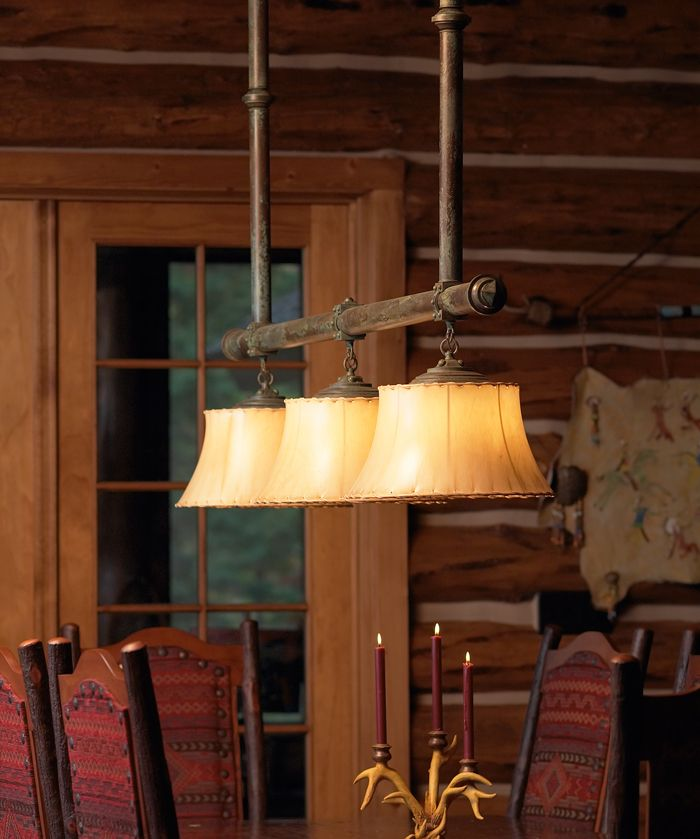 Rustic lighting for cabins custom eagle lodge chandelier for Log cabin chandeliers