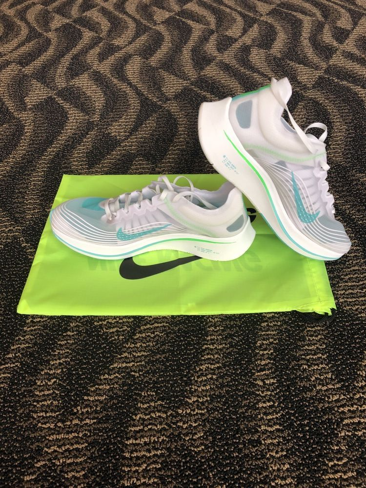 1a1941e20b46c Mens Nike Zoom Fly SP White Rage Green Summit White AJ9282-103 Size 11 New   fashion  clothing  shoes  accessories  mensshoes  athleticshoes (ebay link)