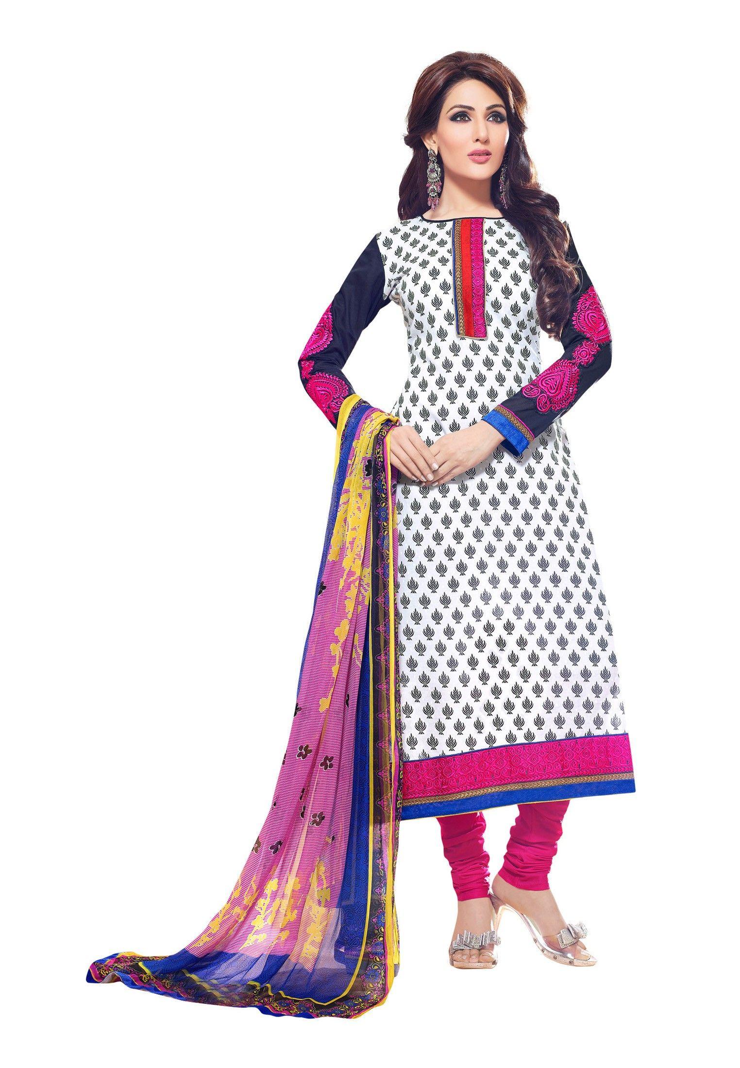 fc431cdccb White Geometric Print Cotton #Salwar Kameez | Modern Ethnic Wear ...