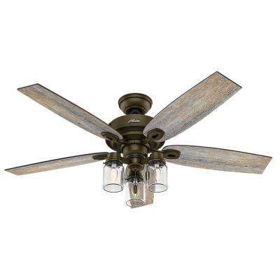 Crown Canyon 52 in Indoor Regal Bronze Ceiling Fan Craftsman home