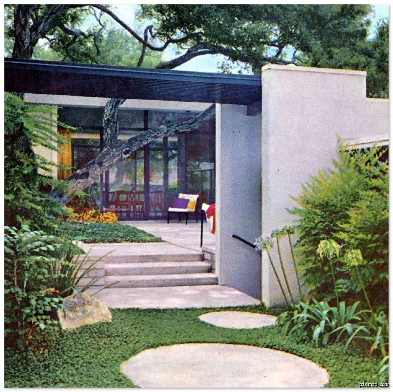 1963 Modernist Landscaping Design Architecture Mid Century