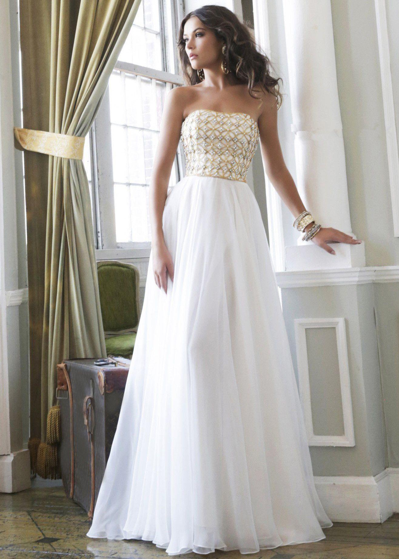 Gold Sequin Prom Dress 2014 - Missy Dress