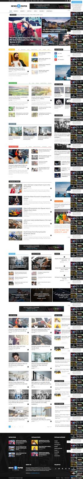 Responsive News, Magazine and Blog Theme, Magazine Responsive ...