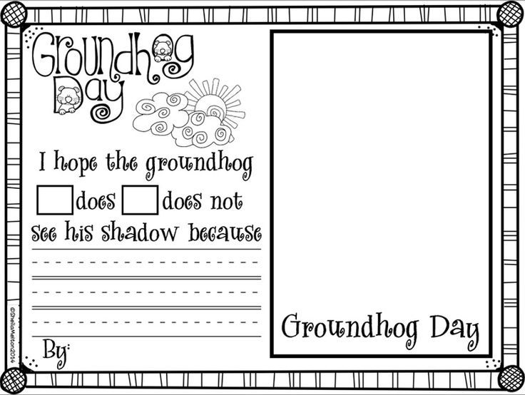 This is an image of Inventive Free Printable Groundhog Day Worksheets