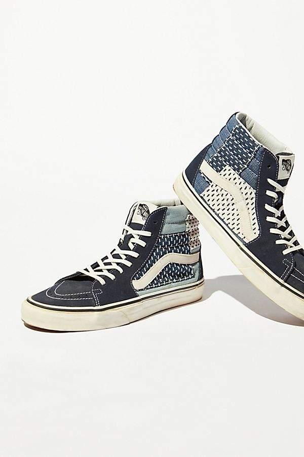 Vans Sk8-Hi Denim Patchwork Sneaker