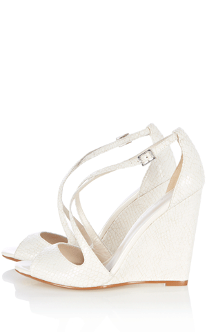 Finally Off White Wedding Wedges That Don T Break The Bank Wedding Wedges Bride Shoes Wedding Shoes