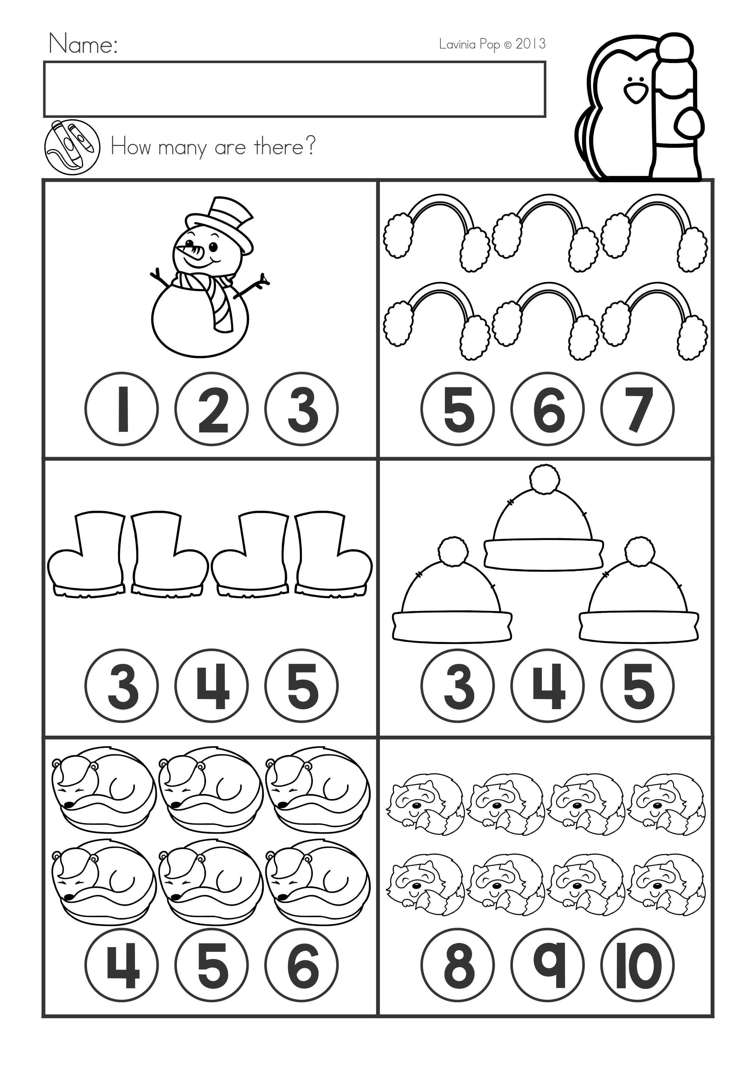 Winter Math Worksheets Amp Activities No Prep For