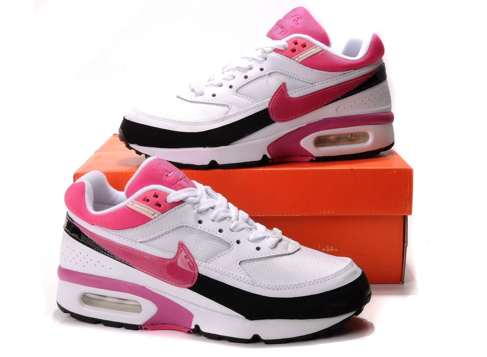 Women Nike Air Max BW White Pink Shoes