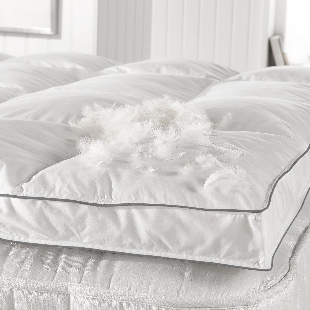 Rest Assured Softened Goose Feather Mattress Topper