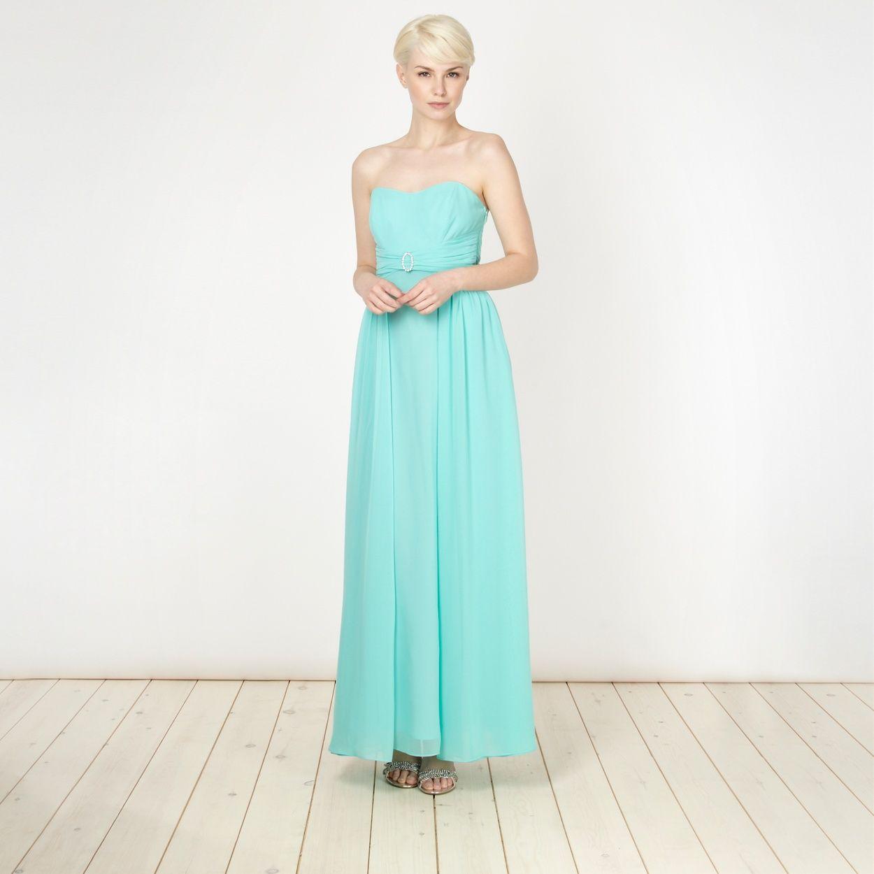 Debut Turquoise diamante buckled maxi dress- at Debenhams.com This ...