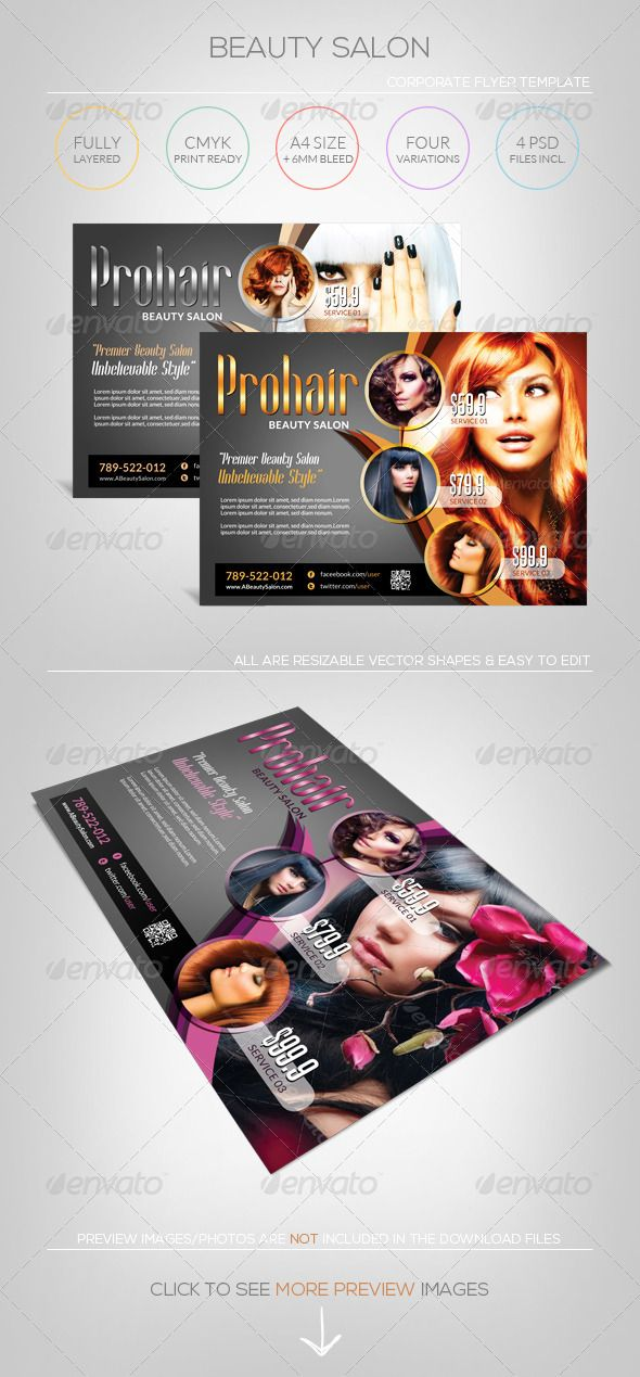 Hair Salon Flyer Template Beauty Salon Flyer Template Flyers Beauty