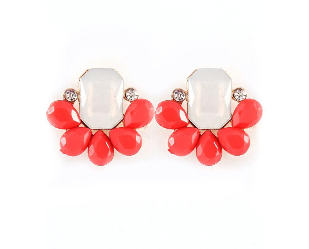 Libby Earrings in Poppy on Emma Stine Limited
