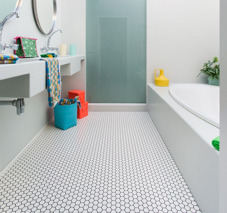 Hex Sheet Vinyl Flooring | Vinyl flooring bathroom ...