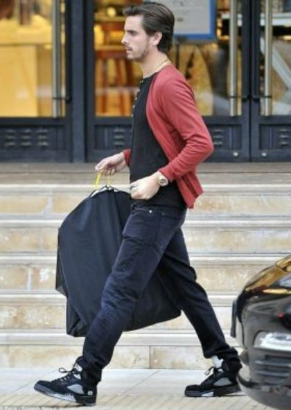 Scott Disick Rocking Air Jordan Metallic 5 Sneakers  952675a6418a
