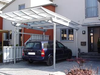 Stahl leimholz carport verona exclusiv abi ideas pinterest for Beckmann aluminium carport