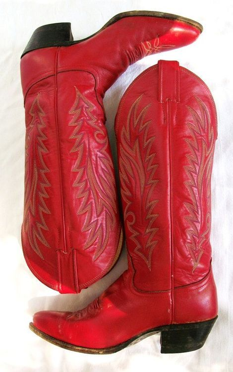 Red cowboy boots, Cowgirl boots