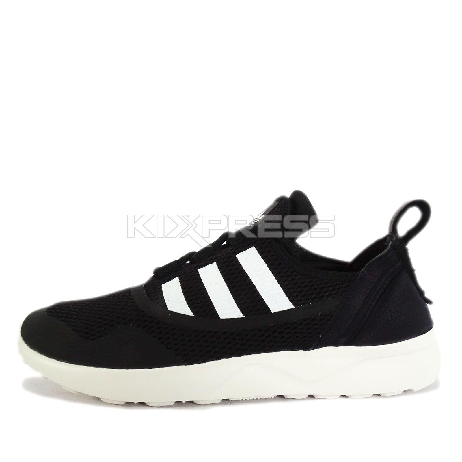 adidas zx flusso avanzata virtù w [s79852] originale in nero / bianco