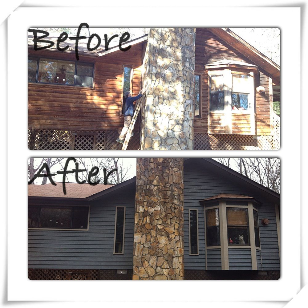 Our Cedar Siding House With Fresh Paint. Sherwin Williams