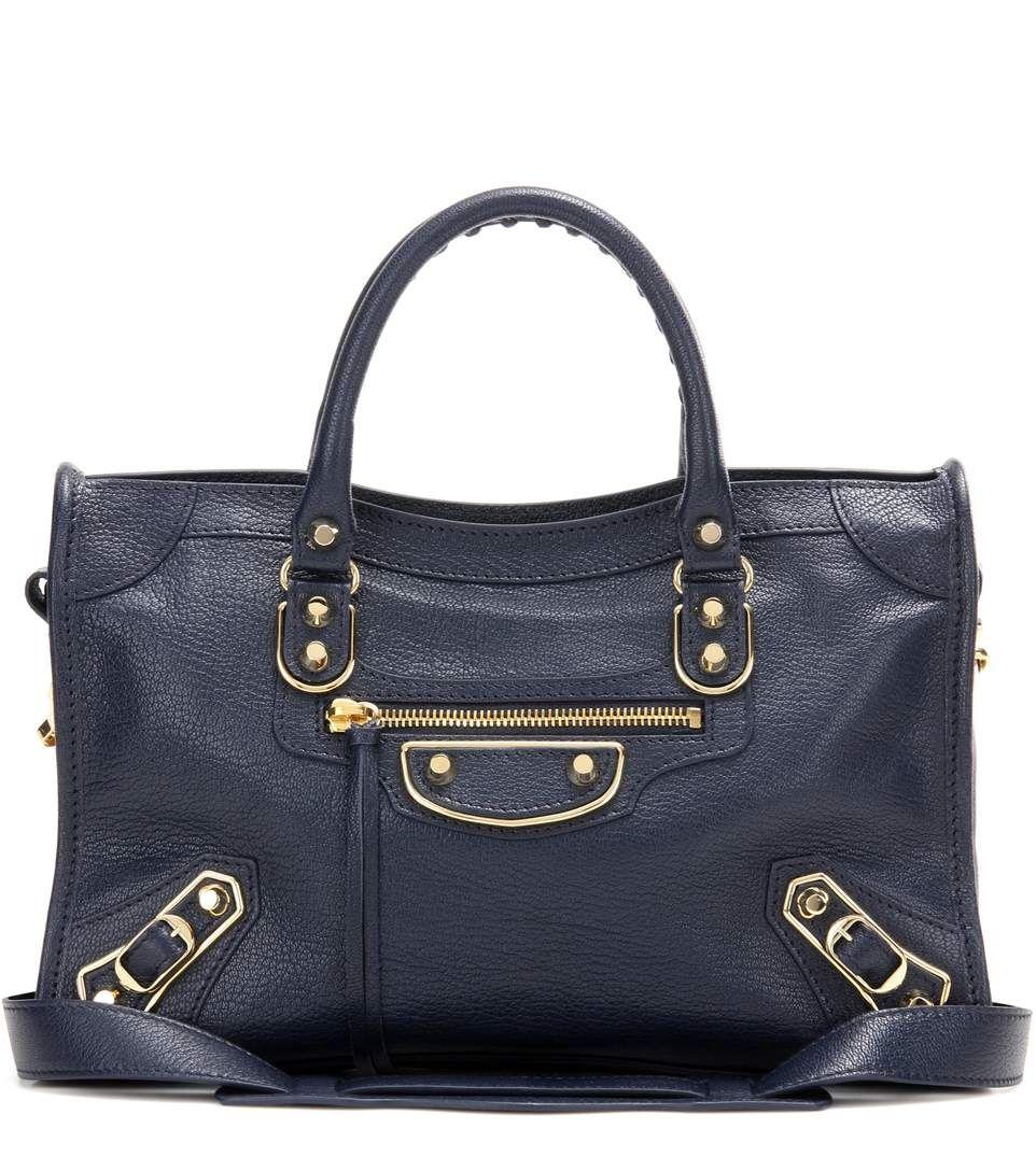 1f999fb9700 BALENCIAGA Classic Metallic Edge Small City leather shoulder bag ...