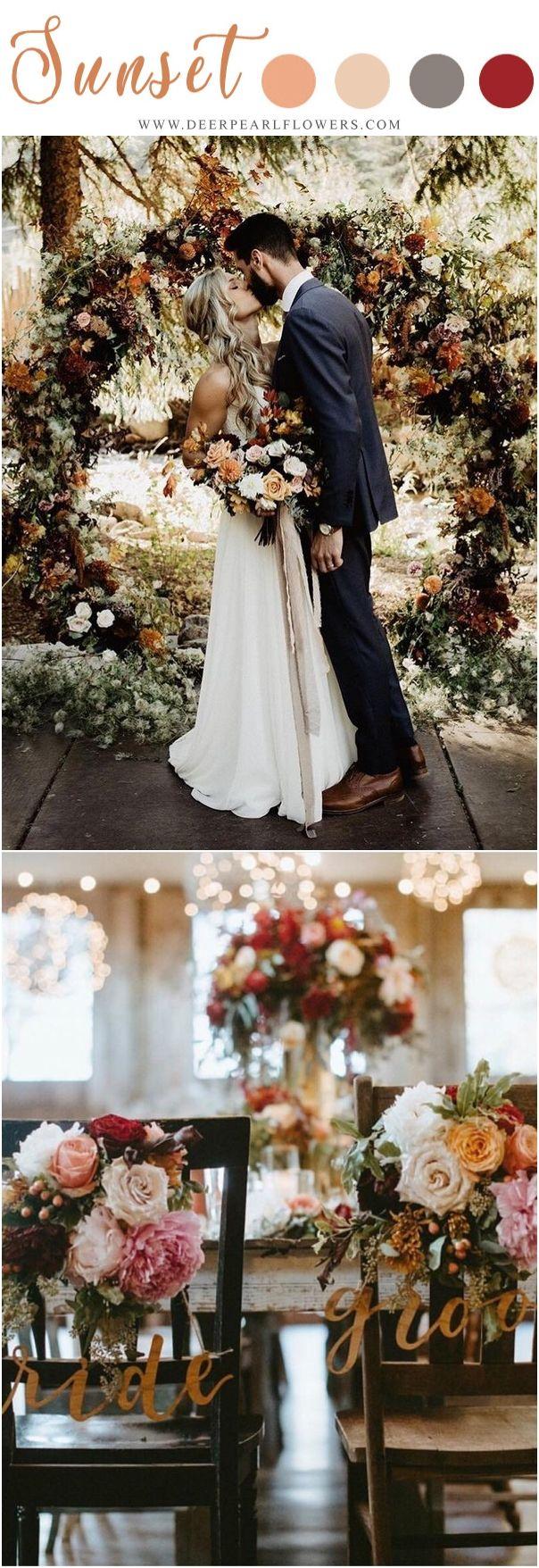 Sunset Orange Fall Wedding Color Ideas Fall Wedding Decor Ideas Weddings Weddingideas Weddingcolo Orange Wedding Colors Fall Wedding Colors Wedding Colors