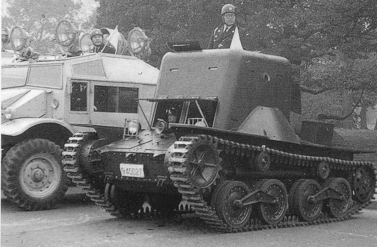 "theoldarmor: "" Japanese light tank Type 95 Ha-Go converted for police service. Source: http://i0.wp.com/strangernn.livejournal.com/1497263.h…(畫像 ..."