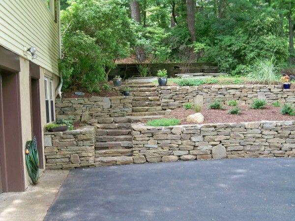Images Boulder Retaining Walls Bing Images Ideas For My Home Landscaping Retaining Walls Boulder Retaining Wall Rock Wall Landscape