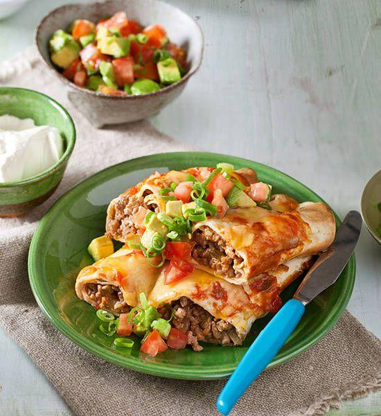 Turkey enchiladas recipe better homes and gardens yahoo7 i food forumfinder Images