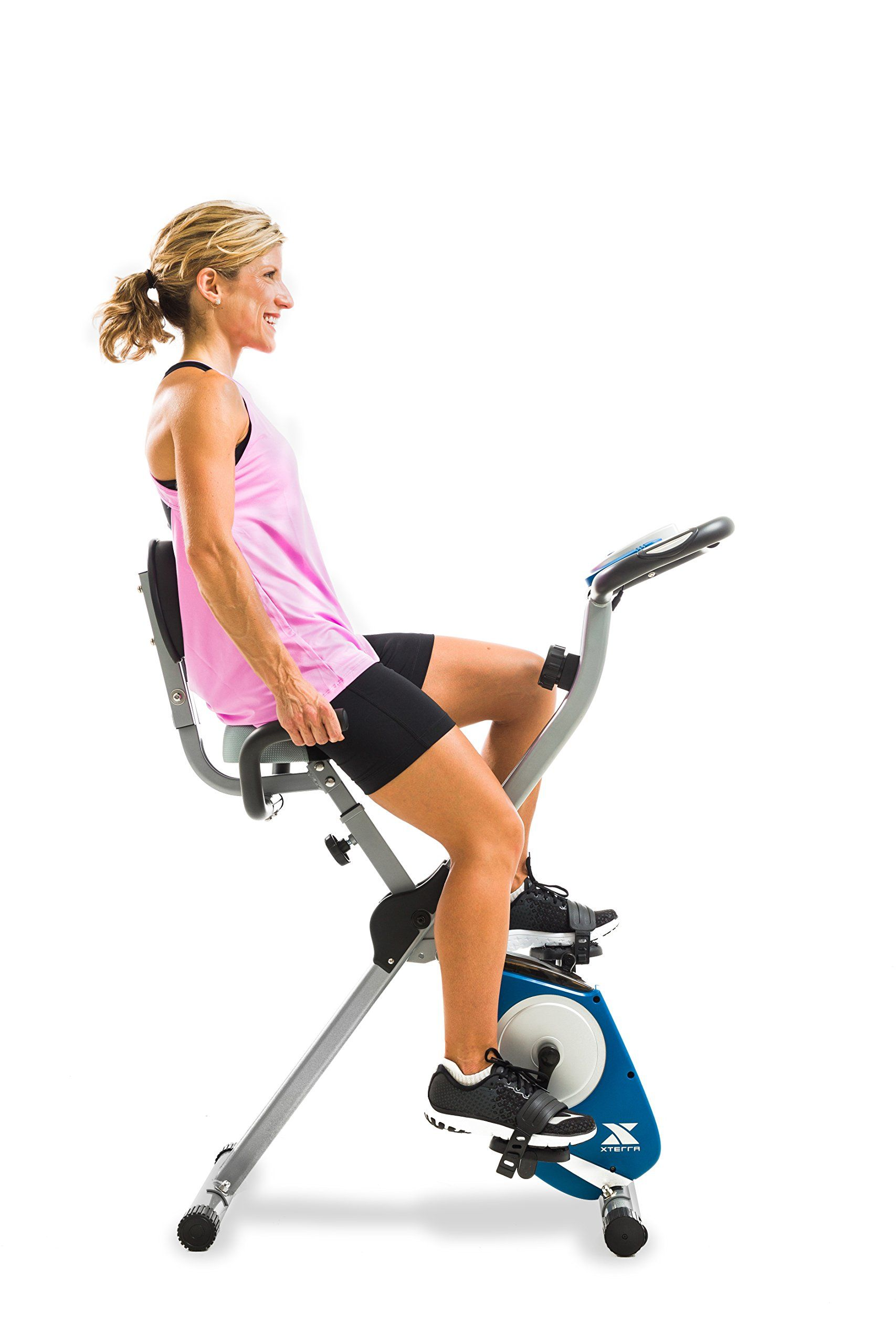 Xterra Fitness Fb350 Folding Exercise Bike Silver Biking