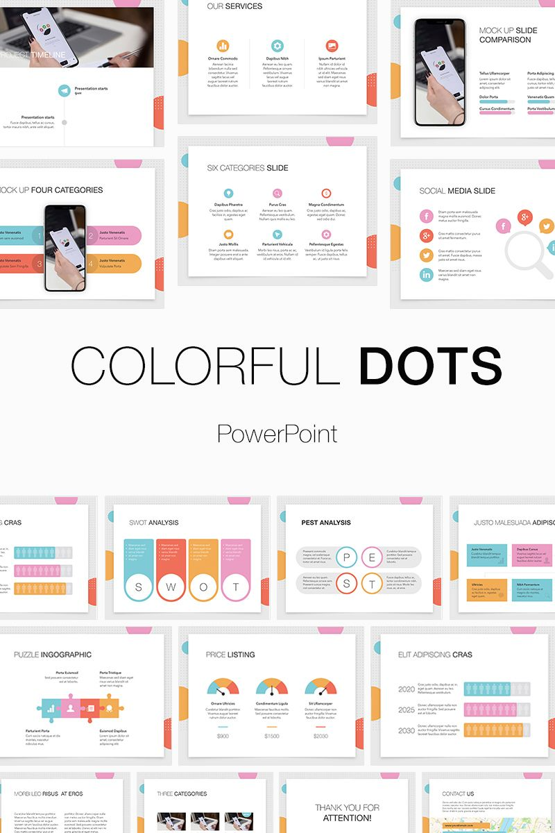 Colorful Dots PowerPoint Template 74521 Keynote design