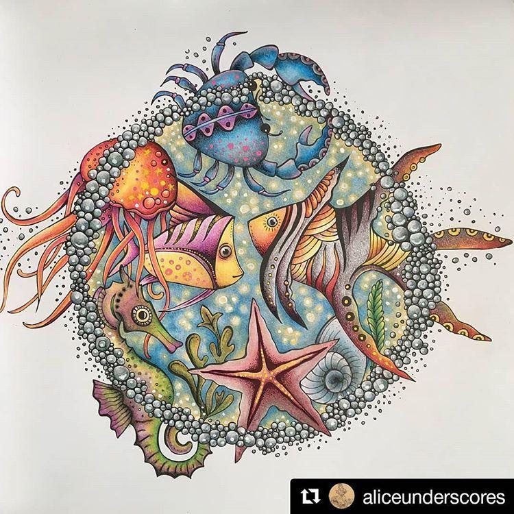 Ritaberman Keresocimke Az Instagramon Fenykepek Es Videok Lost Ocean Coloring Book Color Drawing Art Coloring Book Art