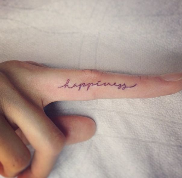 31 Cool Inner Finger Tattoos to Inspire You | Tattoo ...