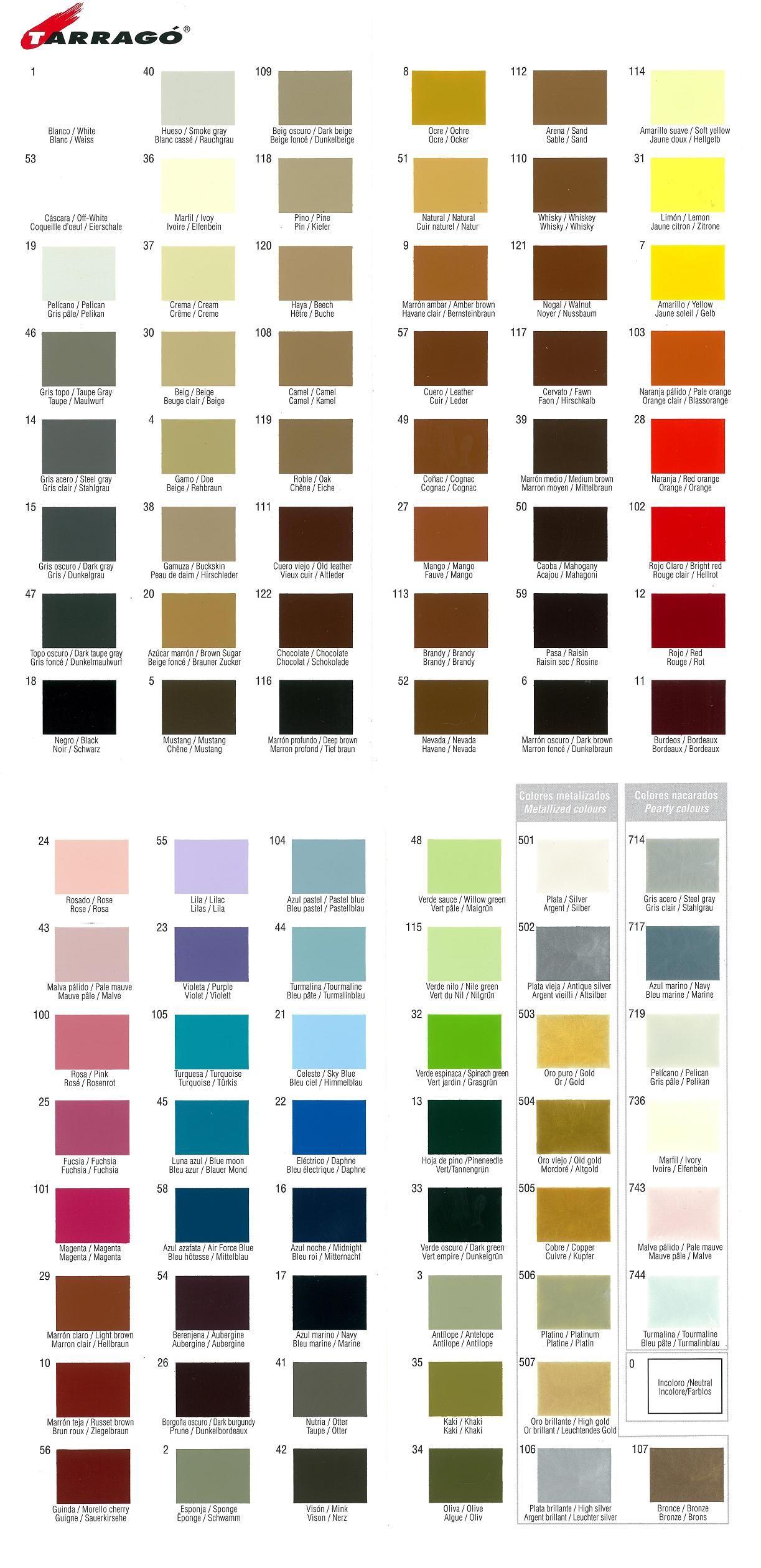 Tarrago color dye chart for leather karta kolorw tarrago tarrago color dye chart for leather karta kolorw tarrago nvjuhfo Images