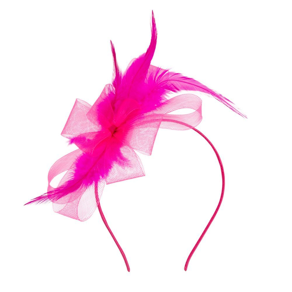 Pink Derby Fascinator Headband