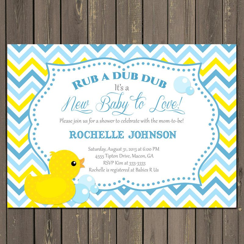 Rubber duck baby shower invitation duck baby por partypopinvites rubber duck baby shower invitation duck baby por partypopinvites stopboris Image collections