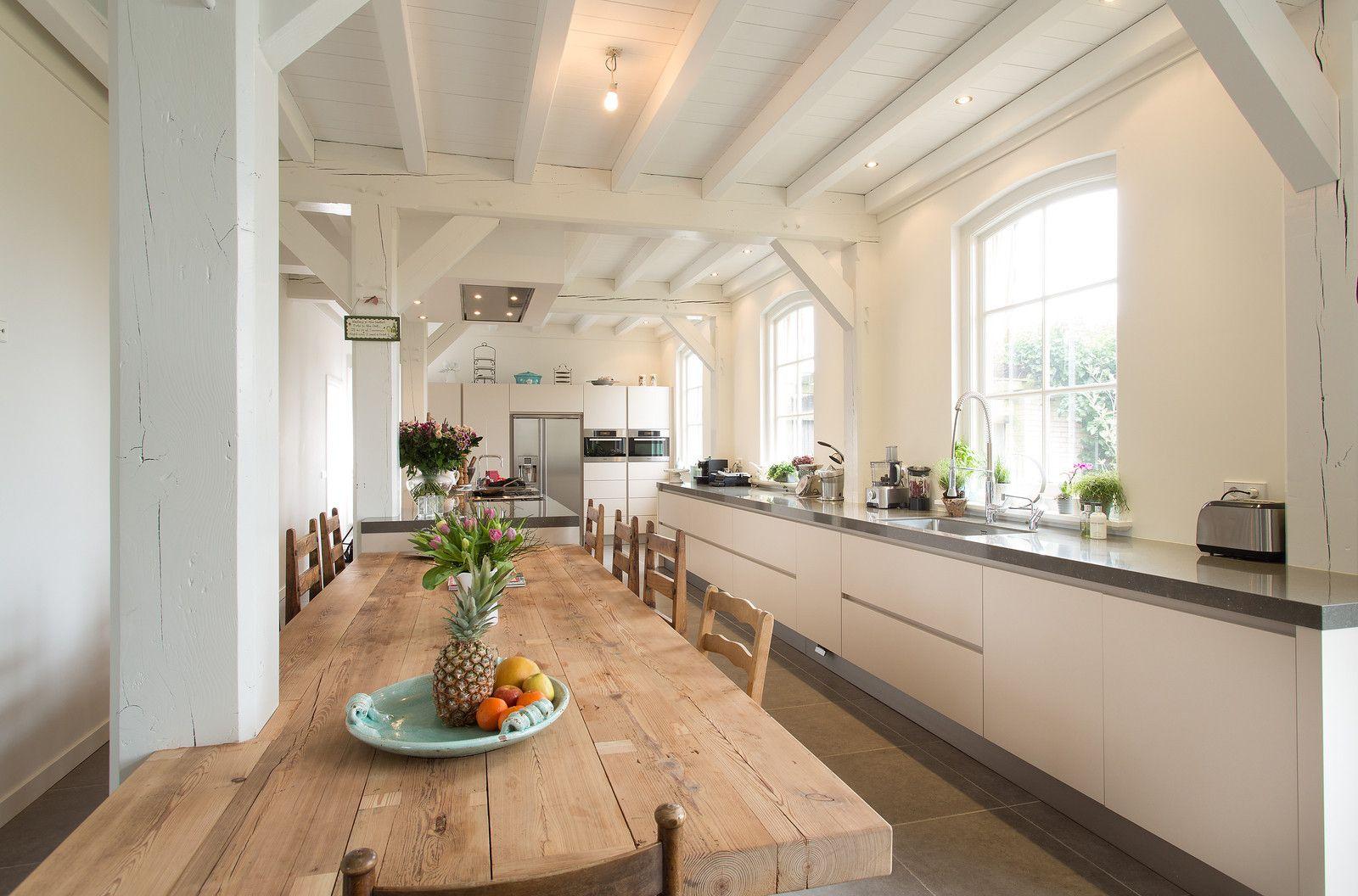 Landelijk Keuken Modern : Moderne landelijke keuken in woonboerderij katwijk geplaatst door
