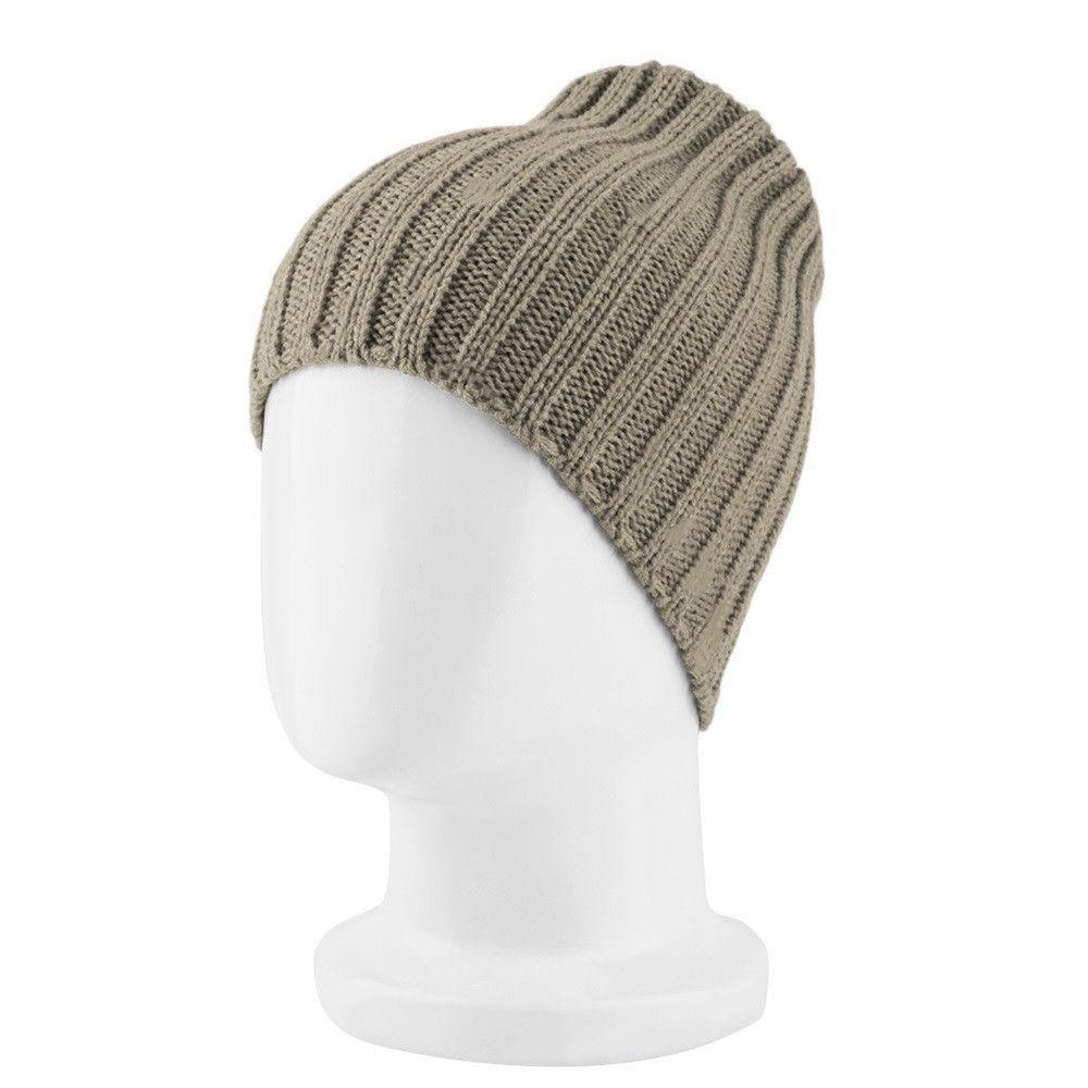 Plain Winter Unisex Men/'s Women/'s Hat Extra Warm Double Fur Knit Beanie Navy
